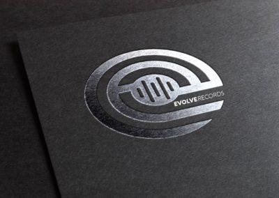 Evolve Records Logo Silverfoil Mock Up